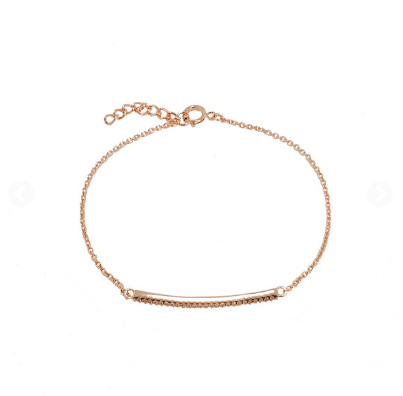 ROSE GOLD CZ BAR SANTO BRACELET