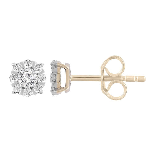 9CT GOLD DIAMOND STUDS