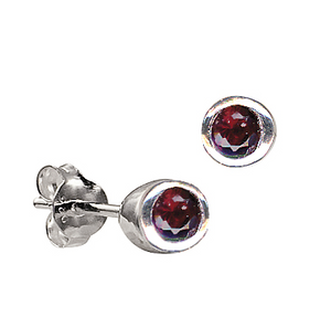 STERLING SILVER JANUARY BIRTHSTONE STUDS