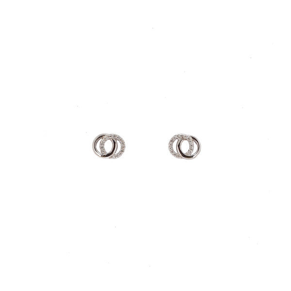 SANTO SILVER DOUBLE CIRCLE STUDS