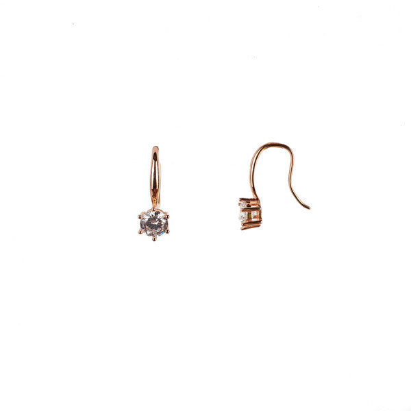 SANTO ROSE GOLD CZ EARRINGS