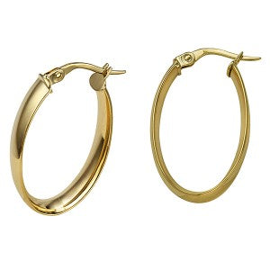9CT YELLOW GOLD WIDE HOOPS