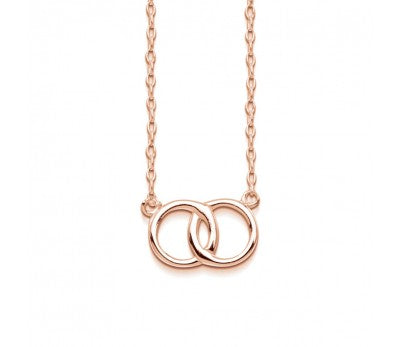 ROSE GOLD 2 RINGS OF FRIENDSHIP NECKLACE