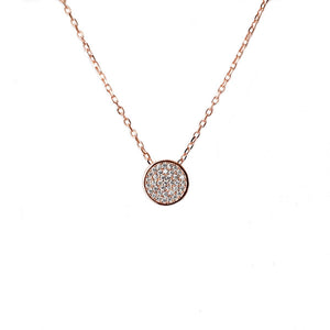 SANTO ROSE GOLD PAVE CZ NECKLACE
