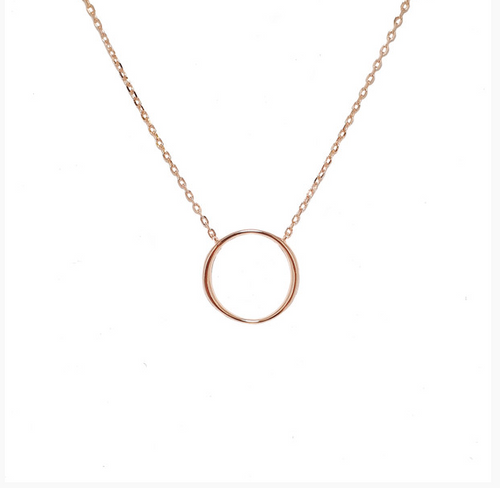 ROSE GOLD OPEN CIRCLE SANTO NECKLACE
