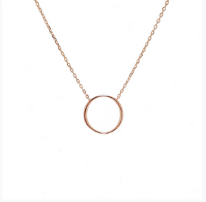 SANTO ROSE GOLD OPEN CIRCLE NECKLACE