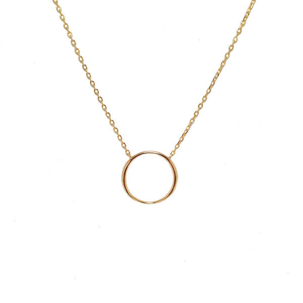 SANTO GOLD OPEN CIRCLE NECKLACE