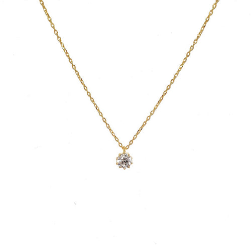 SANTO GOLD CZ NECKLACE