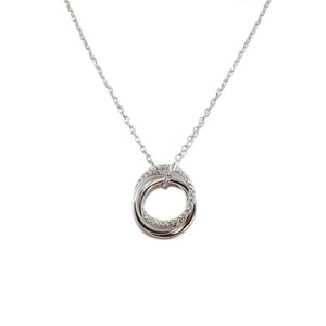 SANTO 3 CIRCLES CZ NECKLACE