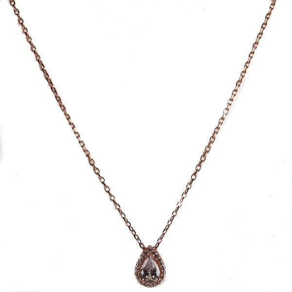 SANTO ROSE GOLD TEAR CZ NECKLACE