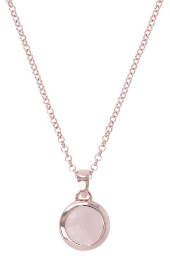 ROSE GOLD + ROSE QUARTZ BRONZALLURE NECKLACE