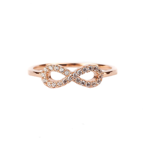 SANTO ROSE GOLD CZ INFINITY RING