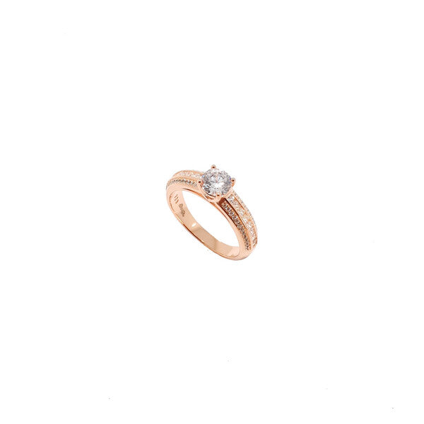 SANTO ROSE GOLD TRIPLE BAND CZ RING