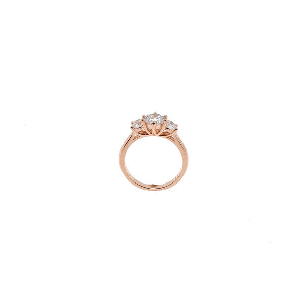 ROSE GOLD 3 CZ SANTO RING