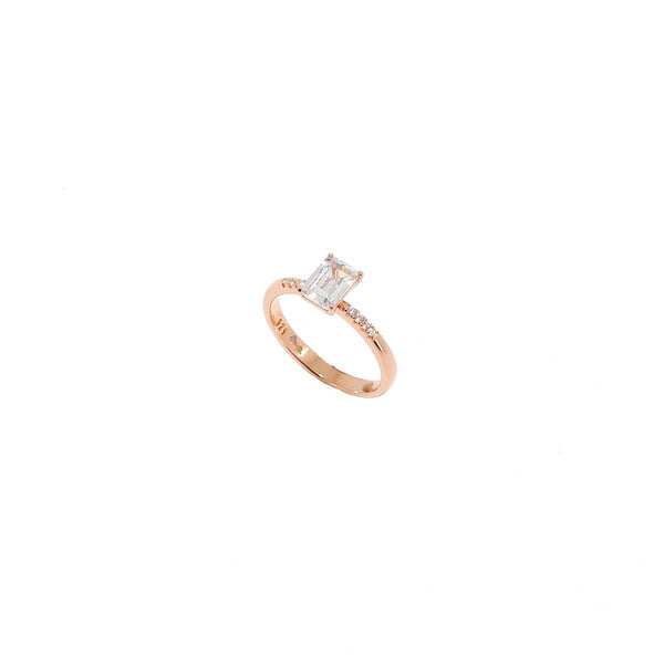 SANTO ROSE GOLD CZ BAGUETTE RING