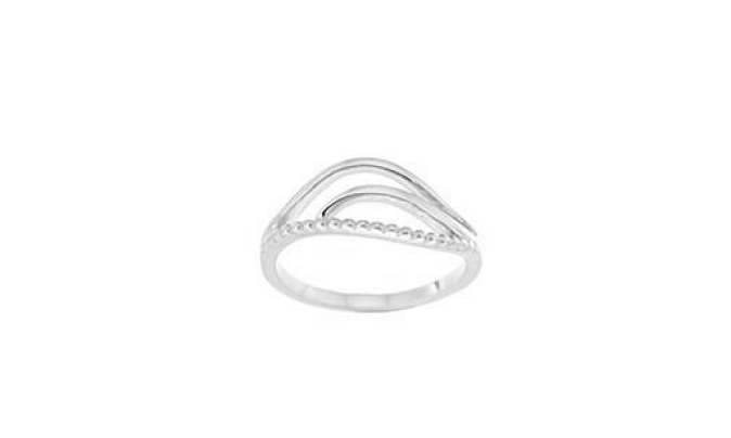 STERLING SILVER OPEN PATTERN RING