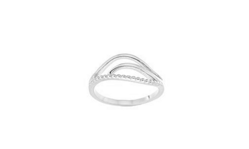 STERLING SILVER OPEN WAVE RING