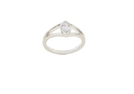 STERLING SILVER MARQUISE CZ RING