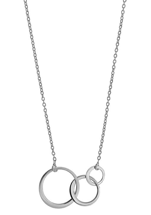 STERLING SILVER CIRCLE GENERATION NECKLACE