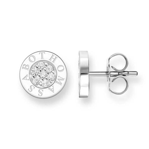 STERLING SILVER CZ THOMAS SABO SIGNATURE STUDS