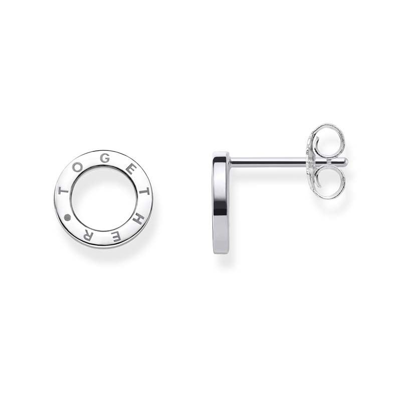 STERLING SILVER OPEN CIRCLE 'TOGETHER' THOMAS SABO STUDS