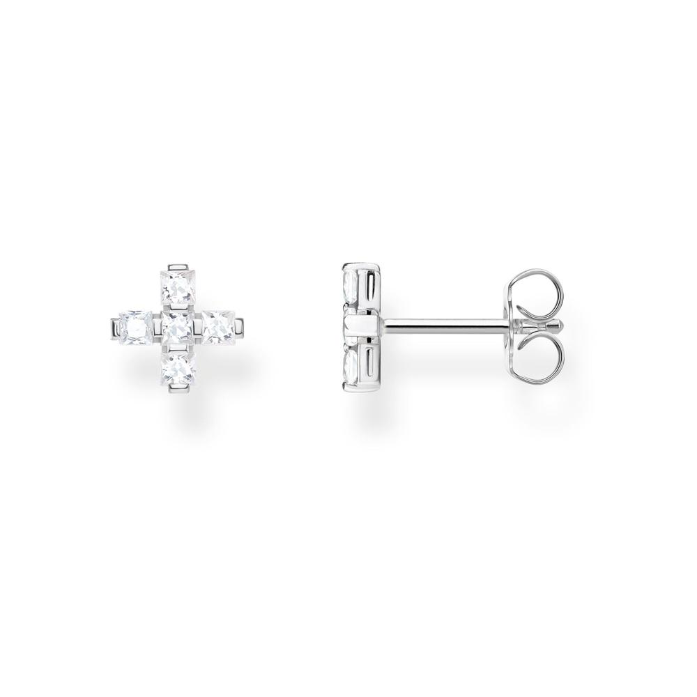 STERLING SILVER CZ CROSS THOMAS SABO STUDS