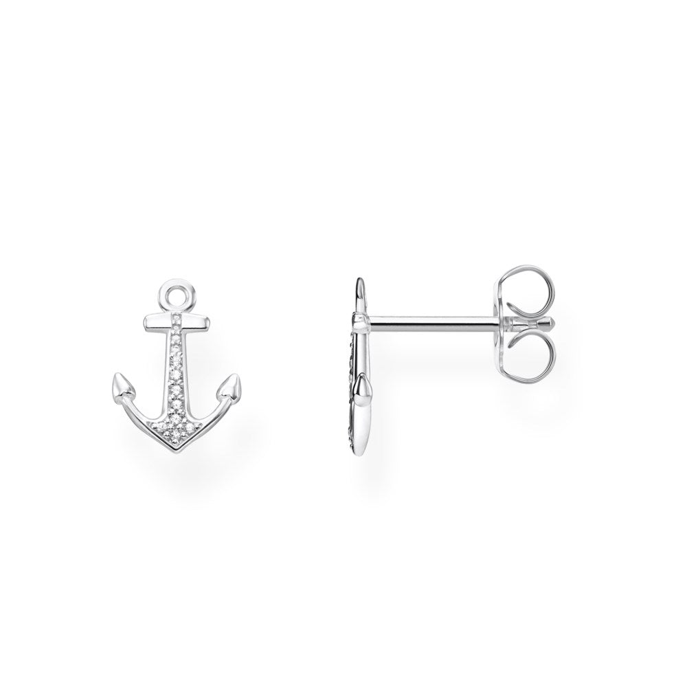 STERLING SILVER CZ ANCHOR THOMAS SABO STUDS