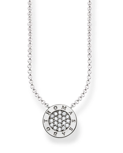 STERLING SILVER CLASSIC PAVE THOMAS SABO NECKLACE