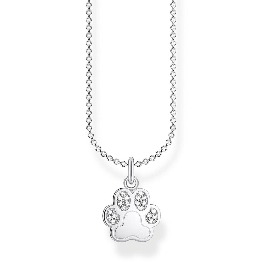 THOMAS SABO CZ PAW PRINT NECKLACE