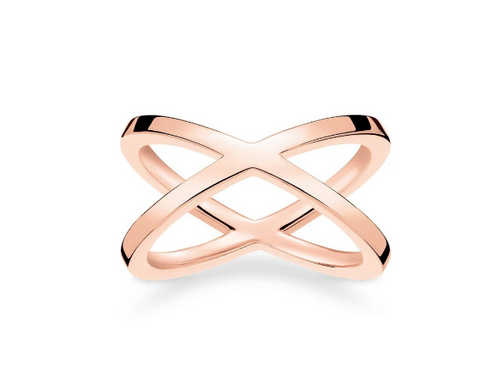 ROSE GOLD THOMAS SABO CROSSOVER RING