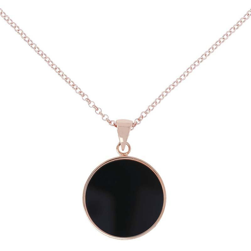 ROSE GOLD + ONYX BRONZALLURE NECKLACE
