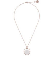 Load image into Gallery viewer, ROSE GOLD + MOTHER OF PEARL BRONZALLURE NECKLACE