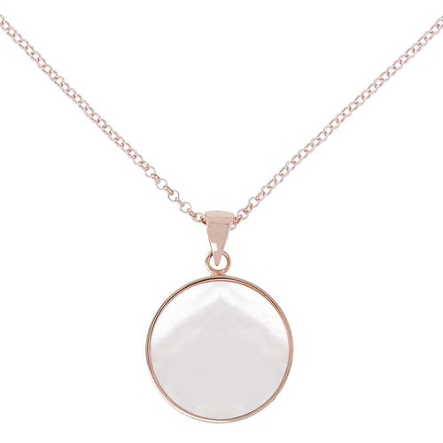 BRONZALLURE ROSE GOLD + MOTHER OF PEARL NECKLACE