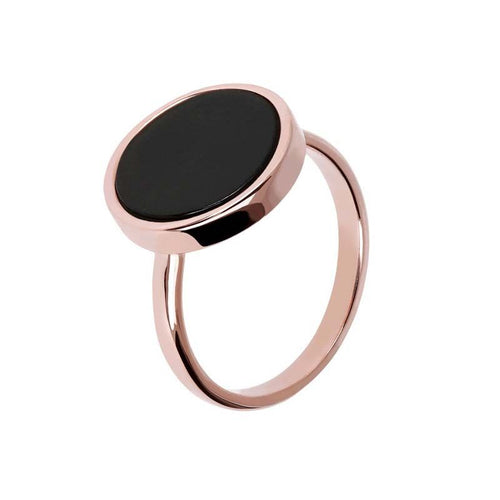 ROSE GOLD + BLACK ONYX BRONZALLURE RING