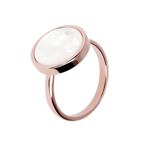ROSE GOLD + MOTHER OF PEARL BRONZALLURE RING