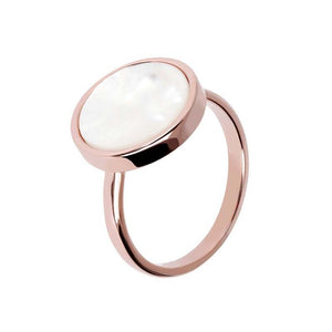 BRONZALLURE ROSE GOLD + MOTHER OF PEARL RING