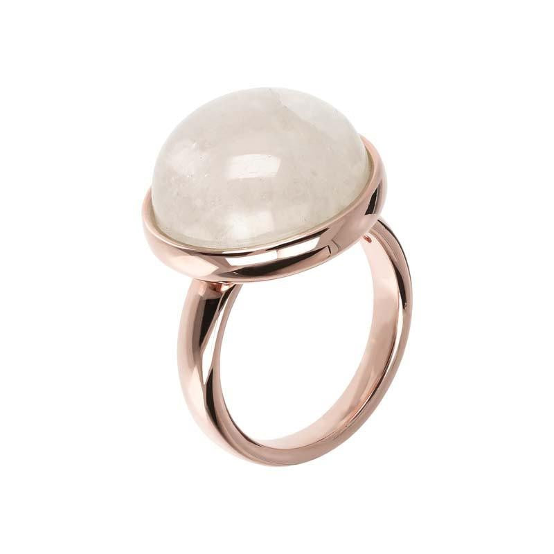 BRONZALLURE ROSE GOLD + MOONSTONE RING