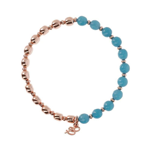 ROSE GOLD + BLUE QUARTZ BRONZALLURE BRACELET