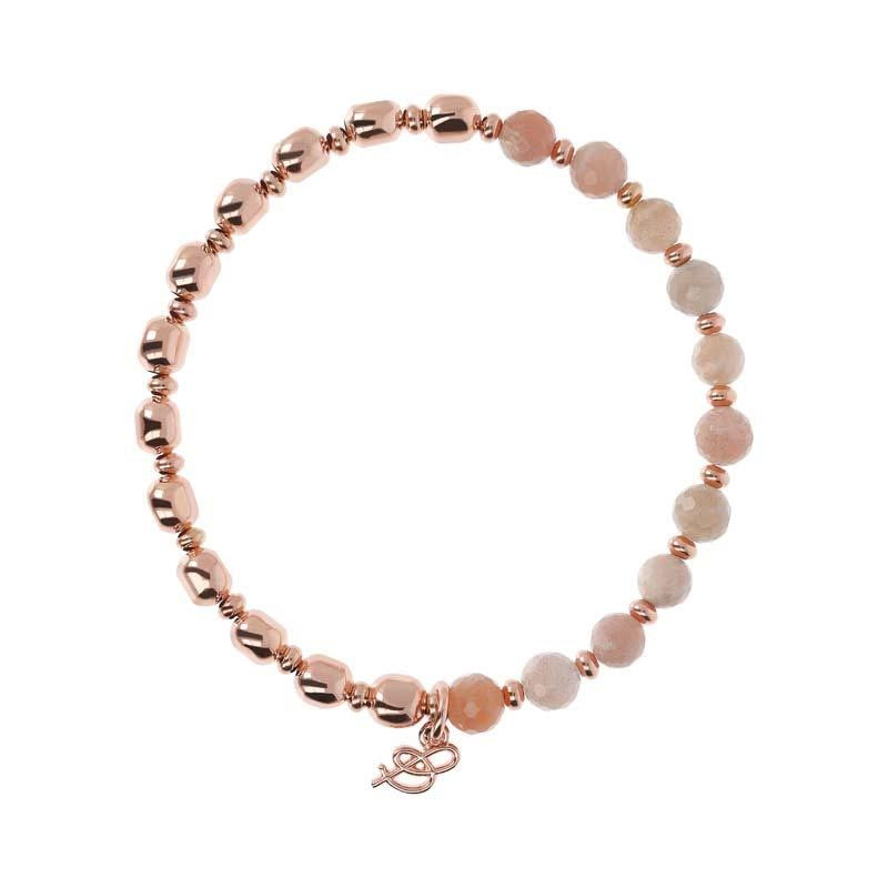 BRONZALLURE ROSE GOLD + PEACH MOONSTONE BRACELET