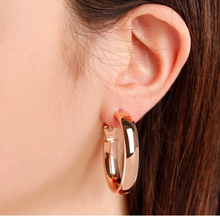 Load image into Gallery viewer, BRONZALLURE ROSE GOLD LARGE WIDE HOOPS