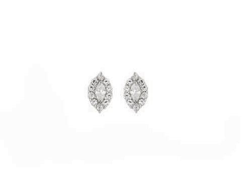 STERLING SILVER FANCY CZ STUDS