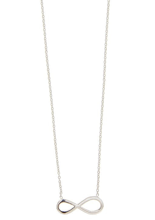 STERLING SILVER INIFINITY NECKLACE
