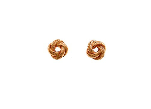 ROSE GOLD SMALL KNOT STUDS