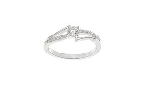 STERLING SILVER CZ DRESS RING