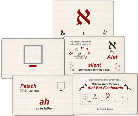 Large Teachers Version of The Hebrew Word Pictures Flashcards