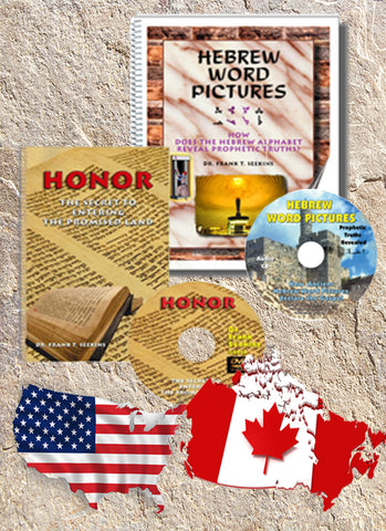 Hebrew Word Pictures and Honor  - U.S. and Canada - 25 percent Off