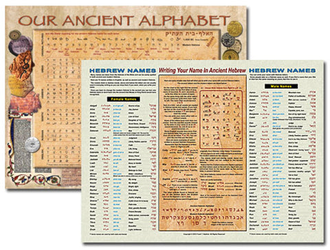 Our Ancient Alphabet Worldwide shipping