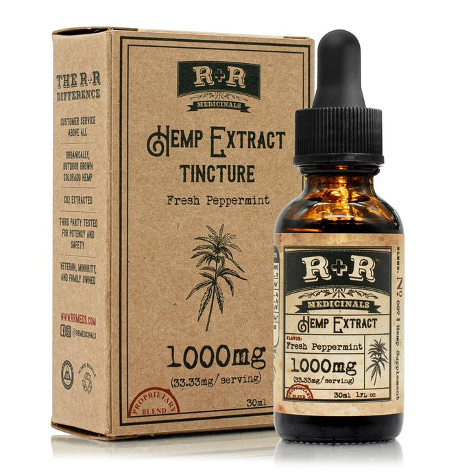 R+R Medicinals 1000mg Full Spectrum Tincture