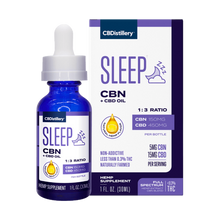 Load image into Gallery viewer, CBDistillery CBN + CBD Sleep Tincture 1:3 - 150mg CBN + 450mg CBD- 30ml