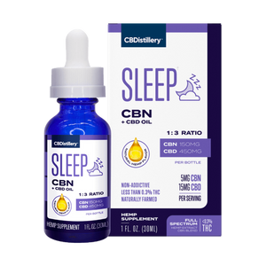 CBDistillery CBN + CBD Sleep Tincture 1:3 - 150mg CBN + 450mg CBD- 30ml